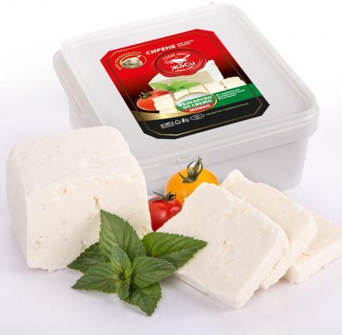 White brined sheep cheese box