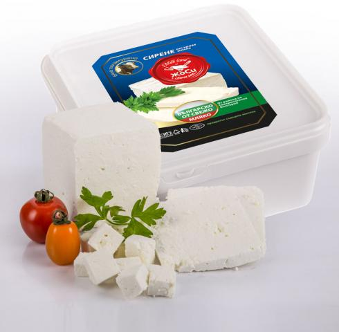 White brined cow cheese box