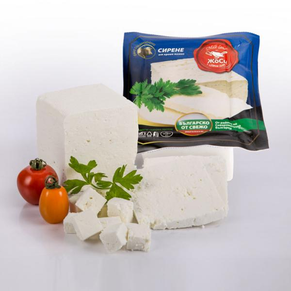 White brined cow cheese