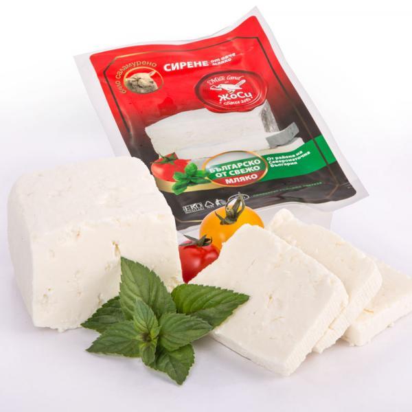 White brined sheep cheese