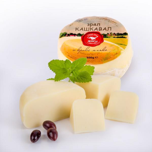 Mature yellow cheese